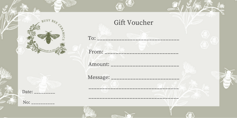 Gift Vouchers Busy Bee Ceramics