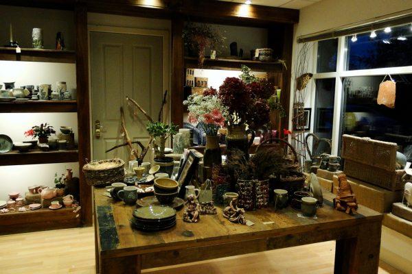 Busy Bee ceramics shop interior